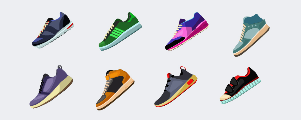 Different sneakers